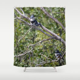 Two 4 One - Belted Kingfisher Shower Curtain