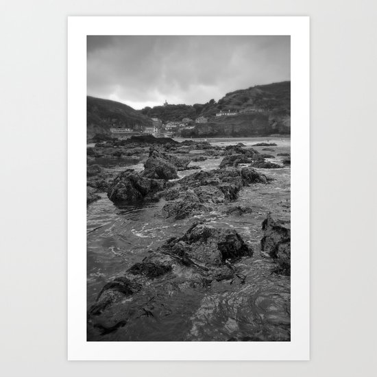 St Agnes From The Sea Art Print