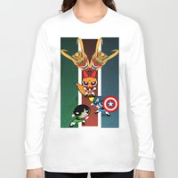 powerpuff girls Long Sleeve T-shirts featuring Powerpuff Girls by milanova