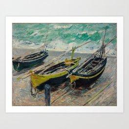 Three Fishing Boats Art Print