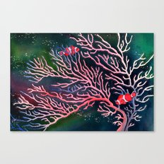 Clownfish and Coral Canvas Print