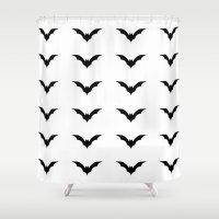 bats Shower Curtains featuring Bats by Katrina Zenshin