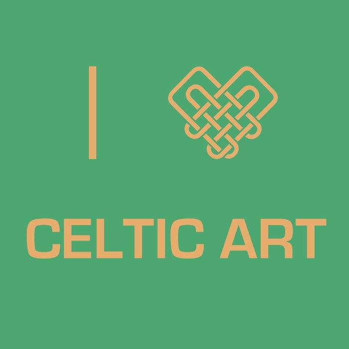 I heart Celtic Art Duvet Cover