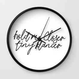 Hold Me Closer Tiny Dancer Music Lyrics Wall Clock