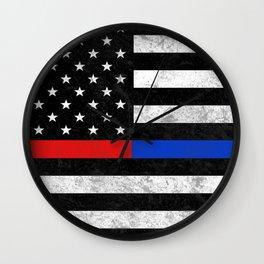 Fire Police Flag Wall Clock