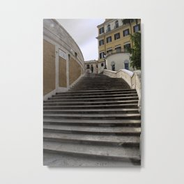 Up the Top of the Spanish Steps Metal Print