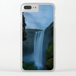 Cascading Waterss Clear iPhone Case