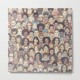 Colorful People Metal Print