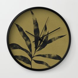 Olive Branch 01 - Ink & Willow Wall Clock