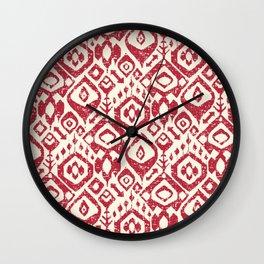 lezat red Wall Clock