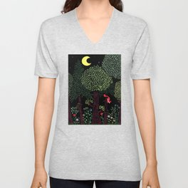 Into The Woods At Night Unisex V-Neck