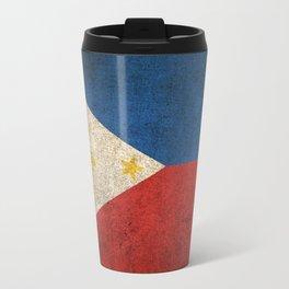 Old and Worn Distressed Vintage Flag of Philippines Travel Mug
