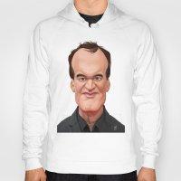 tarantino Hoodies featuring Celebrity Sunday ~ Quentin Tarantino by rob art | illustration