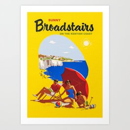 Sunny Broadstairs Art Print
