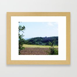 Hills on the Beach Framed Art Print