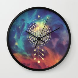 Flower Of Life Totem Wall Clock
