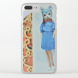 Red Bow Clear iPhone Case