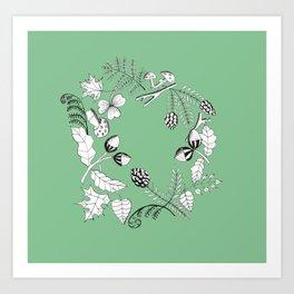 Forest Wreath Art Print