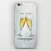champagne iPhone & iPod Skins featuring Champagne! by mJdesign