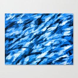 Blue Designer Camo Canvas Print