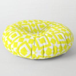 Moroccan Tiles Yellow Floor Pillow