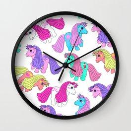 Priscilla's Ponies Wall Clock