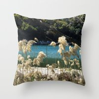 tapestry Throw Pillows featuring Tapestry  by aeolia