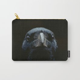 The Raven - Animal Bird photography by Ingrid Beddoes Carry-All Pouch