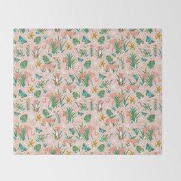 Endangered Wilderness - Blush Pink Throw Blanket