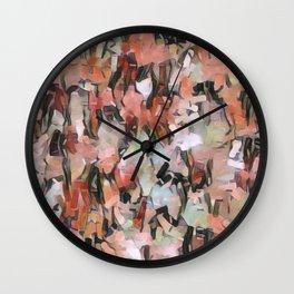 Abstract Confetti Landscape Peach Wall Clock