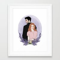 derek hale Framed Art Prints featuring Derek Hale/Lydia Martin by vulcains