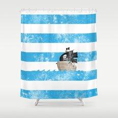 Pirates Love Stripes Shower Curtain