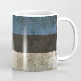 Old and Worn Distressed Vintage Flag of Estonia Coffee Mug