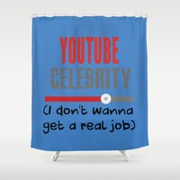 """celebrity Shower Curtains featuring """"Celebrity"""" by Rachcox"""