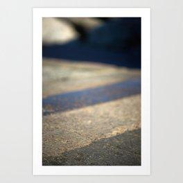 Abstract pavement Art Print