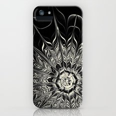 Monochrome Abstract Flower iPhone (5, 5s) Slim Case