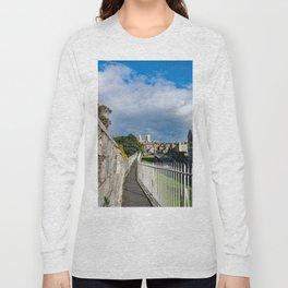 York City Roman wall and Minster Long Sleeve T-shirt