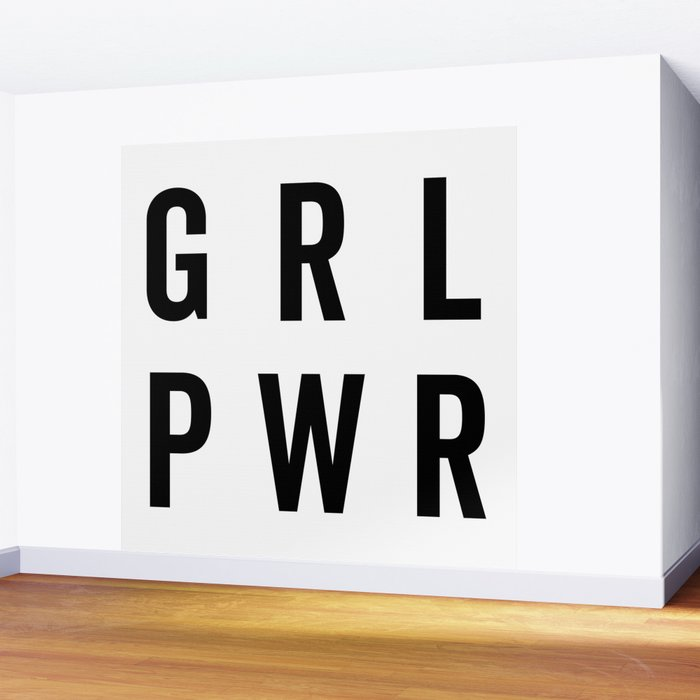 GRL PWR / Girl Power Quote Wall Mural
