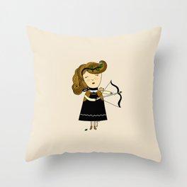 Sagittarius Girl Throw Pillow
