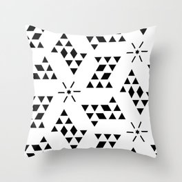 Triangle slide Pattern Throw Pillow