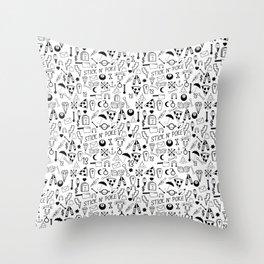 Stick and Poke Tattoo Throw Pillow