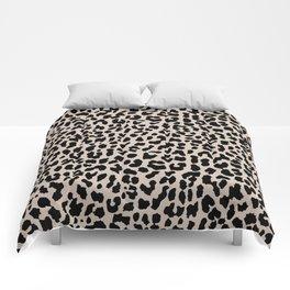 Tan Leopard Comforters
