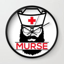 Murse Male Nurse Hospital Health Care Wall Clock