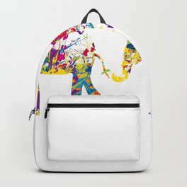 Three happy elefants Backpack