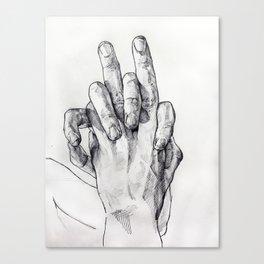 Hand Sketch 3 Canvas Print