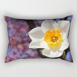 Daffodil with Cherry Blossoms Rectangular Pillow