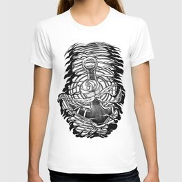 Rose and anchor T-shirt