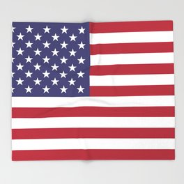 National flag of USA - Authentic G-spec 10:19 scale & color Throw Blanket
