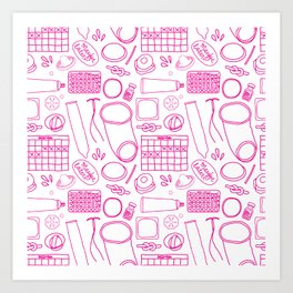 Birth Control Pattern Art Print