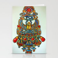 egypt Stationery Cards featuring Egypt - painting by oxana zaika